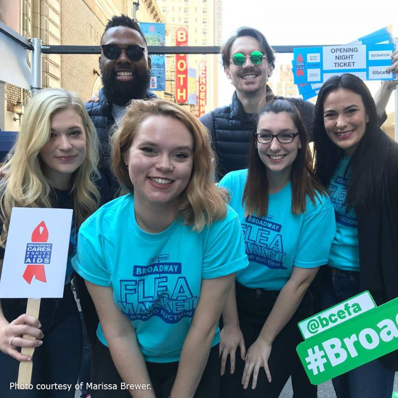 University Theater visits the Broadway Cares flea market in NYC
